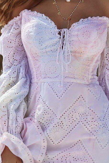 Vous - Sukienka z wielokolorowym farbowaniem